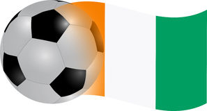 Cote d'ivoire  flag. Cote d'ivoire  ball flag illustration Royalty Free Stock Images