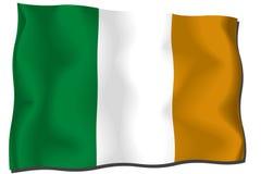 Cote D'Ivoire Flag. Silk flag of Cote D'Ivoire royalty free illustration
