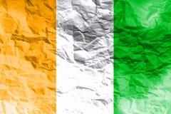 Cote d`ivoire flag 3D illustration symbol. , Stock Photo