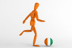 Cote d ivoire football Royalty Free Stock Image