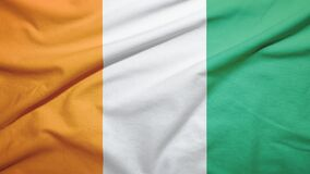 Free Cote D\ Ivoire Ivory Coast  Flag With Fabric Texture Royalty Free Stock Image - 181569156