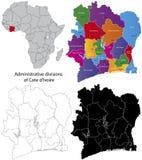 Cote d'Ivoire map Stock Photo