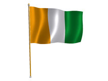 Cote D'Ivoire silk flag Stock Images