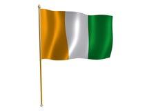 Cote D'Ivoire silk flag. Silk flag of Cote D'Ivoire Stock Images