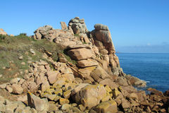Cote De Granit Wzrastający w Francja zdjęcie stock