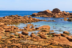 Cote de granite Rose, Brittany Stock Photo