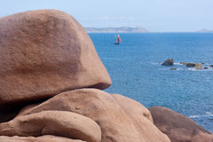Cote de granite Rose, Brittany Coast , France Stock Photos