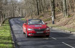 The Red Official Car - Paris-Nice 2017 royalty free stock photography