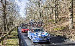 The Car of FDJ Team - Paris-Nice 2017 stock photography