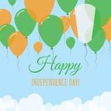 Cote DIvoire dnia niepodległości mieszkania kartka z pozdrowieniami Obrazy Stock