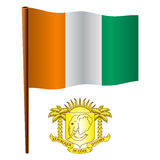 Cote divoire wavy flag Royalty Free Stock Image