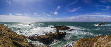 Cote sauvage Bretagne France. View of the cliff of Cote sauvage Bretagne France Stock Photography