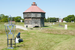 Coteau Du Gummilacka Historisk militära befästningar - Quebec - Kanada arkivfoto