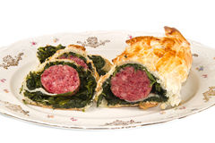 Cotechino in crust Royalty Free Stock Photography