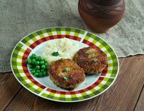 Cotelettes de poulet Pojarski стоковые фото