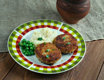 Cotelettes de poulet Pojarski stock photos