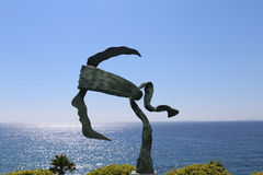 Coti-Chiavari, Корсика, Франция Символ Корсики в скульптуре и голубом небе стоковое фото rf