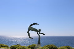 Coti-Chiavari, Corsica, France. The symbol of Corsica in a sculpture and a blue sky Stock Image