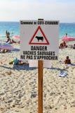 Coti Chiavari, Corsica, Francja 20th 2016 Lipiec wyspa tristana Fotografia Stock