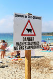 Coti Chiavari, Corsica, Francja 20th 2016 Lipiec wyspa tristana Obrazy Stock