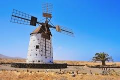 cotillo el Fuerteventura wiatraczek Zdjęcia Royalty Free