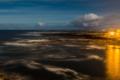 Cotillo night. Middle of the night by the sea. Feurtaventura Cotillo Stock Image