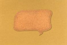 Cotización de la burbuja de la tarjeta del corcho Imagen de archivo