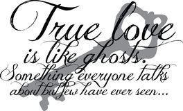 Cotización verdadera del amor con clave Imágenes de archivo libres de regalías