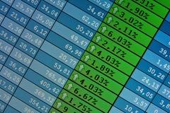 Cotizaciones comunes en el tiempo real en la bolsa  Stock de ilustración