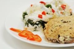 Cotoletta con insalata Fotografia Stock