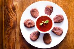 Cotoletta fritta del veg Immagini Stock