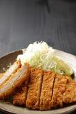 Cotoletta giapponese Tonkatsu della carne di maiale Fotografie Stock