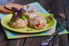 Cotolette del pollo con le verdure e la crusca Fotografia Stock Libera da Diritti