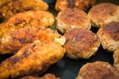 Cotolette della carne tritata Fotografia Stock