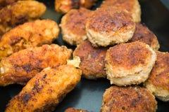 Cotolette della carne tritata Fotografie Stock