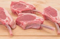 Cotolette di taglio di agnello Fotografie Stock Libere da Diritti