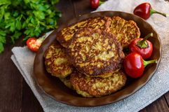 Cotolette dietetiche del vegano di melanzana Immagine Stock