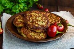 Cotolette dietetiche del vegano di melanzana Fotografia Stock Libera da Diritti