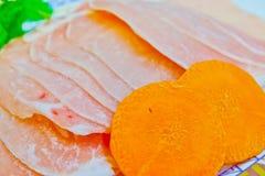 Cotolette sottili della carne di maiale Fotografia Stock