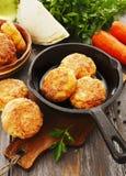 Cotolette vegetariane con cavolo e la carota Fotografia Stock