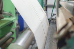 Coton cru dans l'usine, fils de coton Photo libre de droits