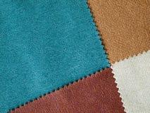 Coton de couleurs de l'échantillon quatre image stock