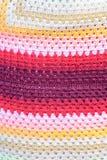 Coton tissé par main colorée Photographie stock libre de droits