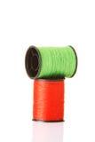 Coton vert et rouge. Photos stock