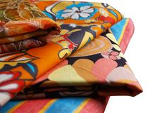 Cotone colorato isolato Fotografie Stock