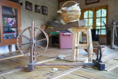 Cotone di filatura tailandese Fotografia Stock