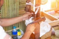 Cotone fatto a mano nella vita rurale Fotografia Stock