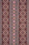 Cotone tailandese di stile antico del reticolo Fotografia Stock