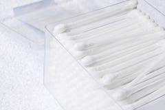 Cotonetes de algodão Foto de Stock