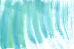 Cotonetes do ziguezague da aquarela com uma escova larga, seca Imagens de Stock Royalty Free